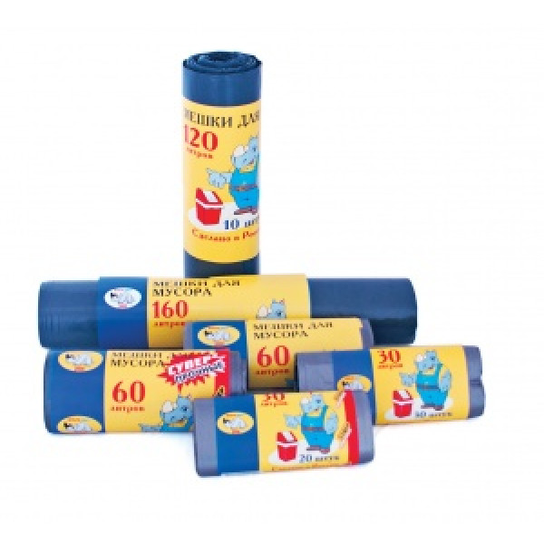 Мешки для мусора рулон 30л, 30шт