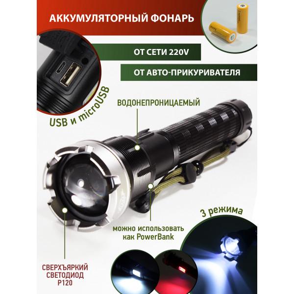 Светодиодный, супер яркий ФонарьОгонь H846p120