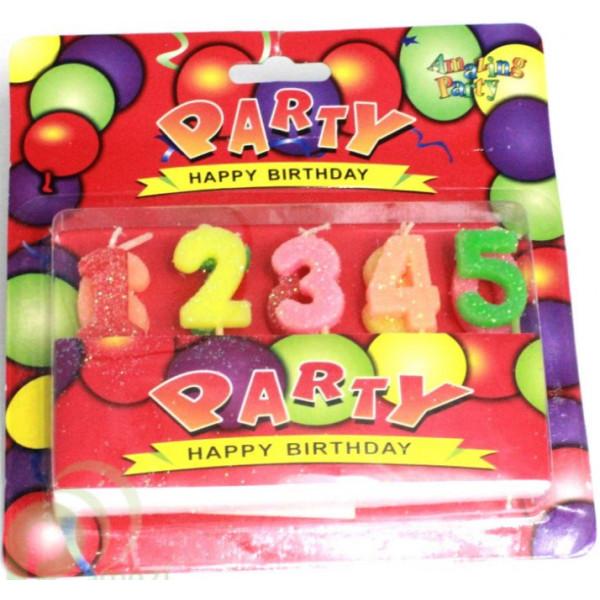 Свечи для торта цифры, от 1 до 5