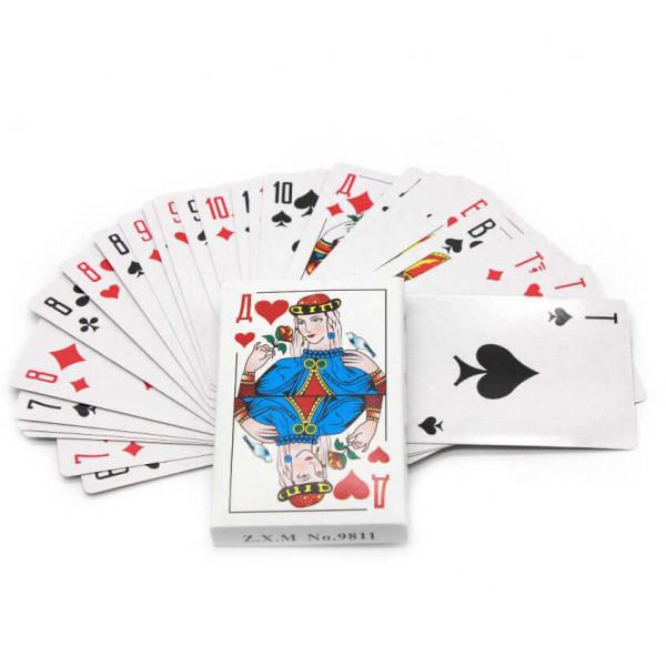 """Карты игральные """"Король"""", бумажные, 54 шт."""