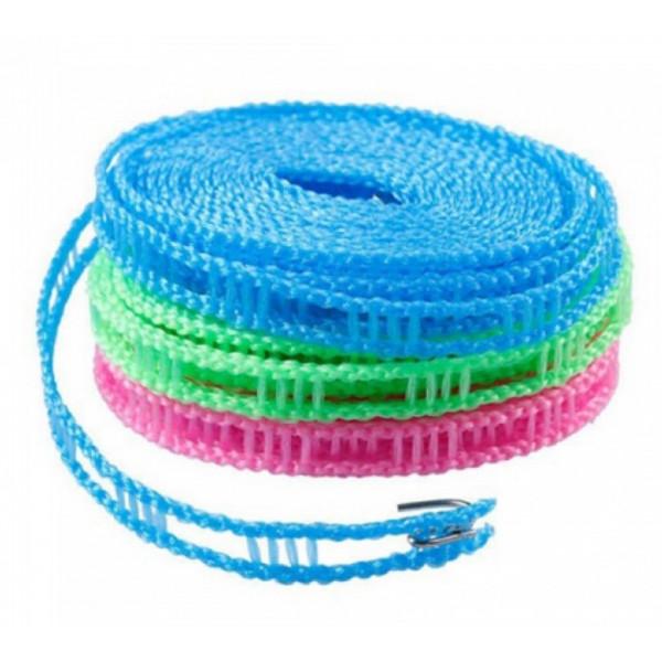 Веревка для сушки белья на плечиках, длина 3 м, цвет МИКС