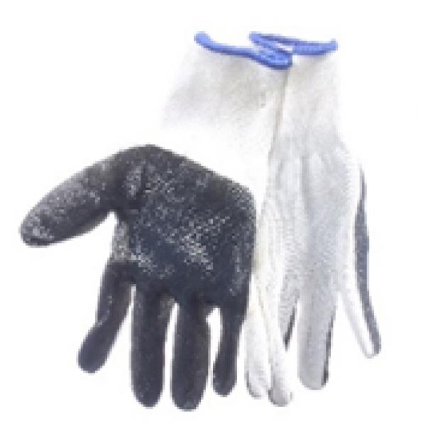 Перчатка с нитриловым покрытием (бело-серые)