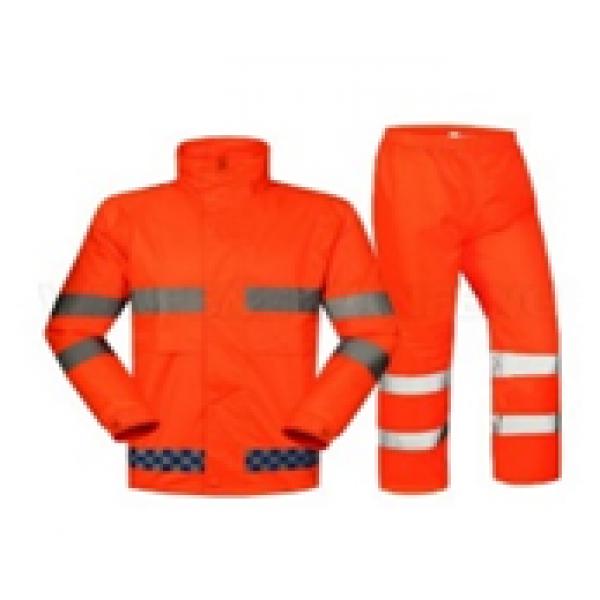 Светоотражающий костюм оранжевого цвета