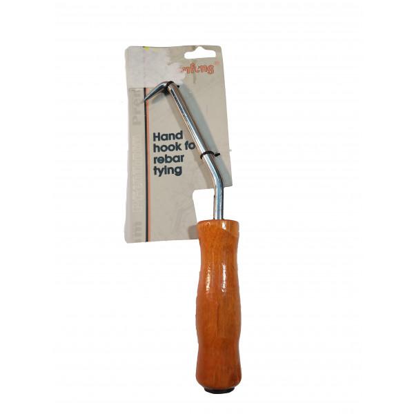 Крюк вязальный для проволоки (деревянная рукоятка)