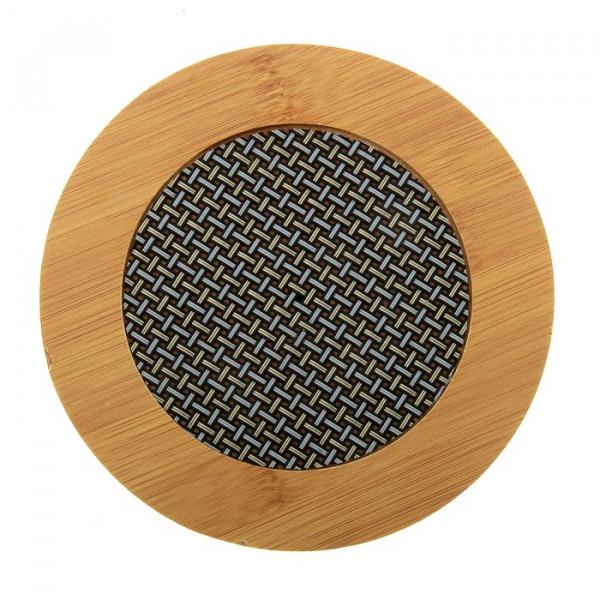 Подставка бамбуковая под горячее (17 см)