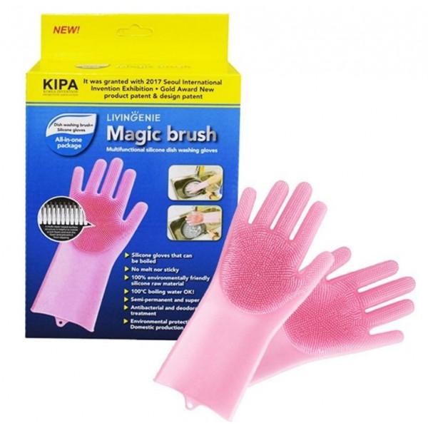 Силиконовые перчатки для мытья посуды, в коробке 2 шт.