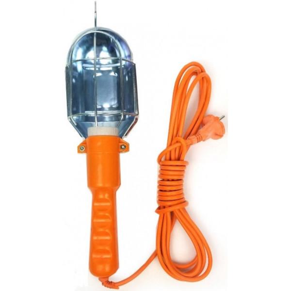 Светильник-переноска для ламп, оранжевый, 10 м