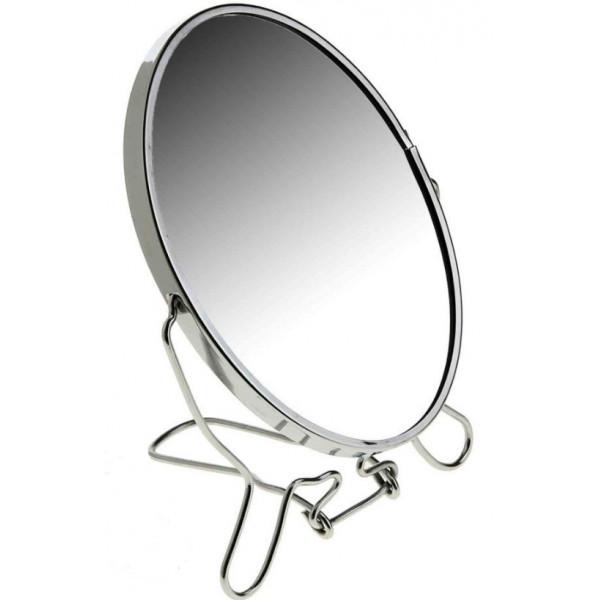 """Зеркало металл круглое, двустороннее с увеличением, d 10"""" (25 см)"""