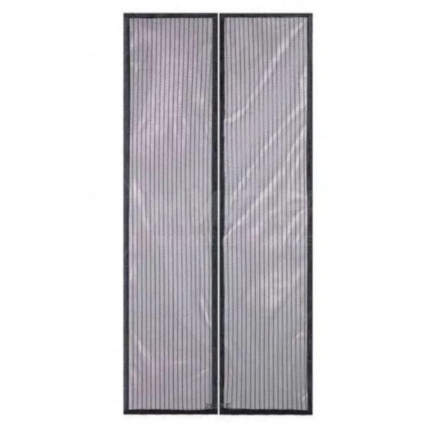 Сетка антимоскитная сетка Magic Mesh на магнитах 9 шт., 100х210 см, цвета черный и бежевый
