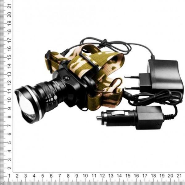 Фонарь налобный аккумуляторный zoom с линзой Bailong Police BL-6807 сверхмощный