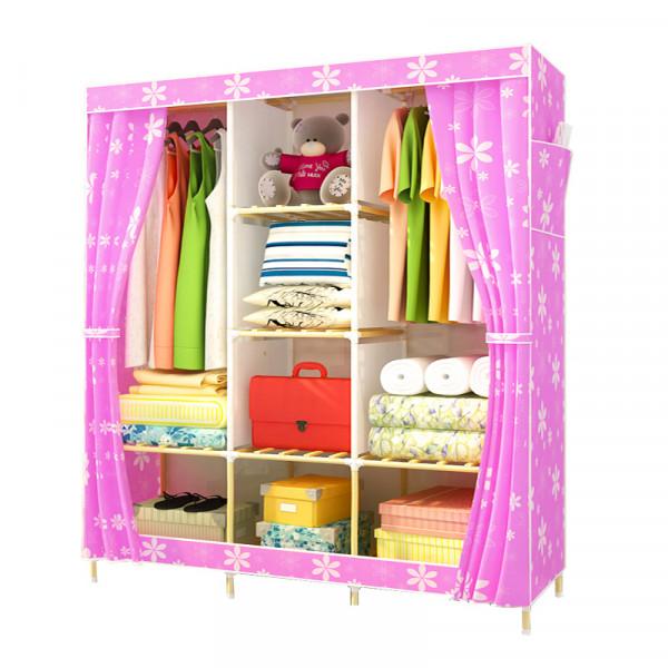 Тканевый шкаф (розовый) HGO63-PK