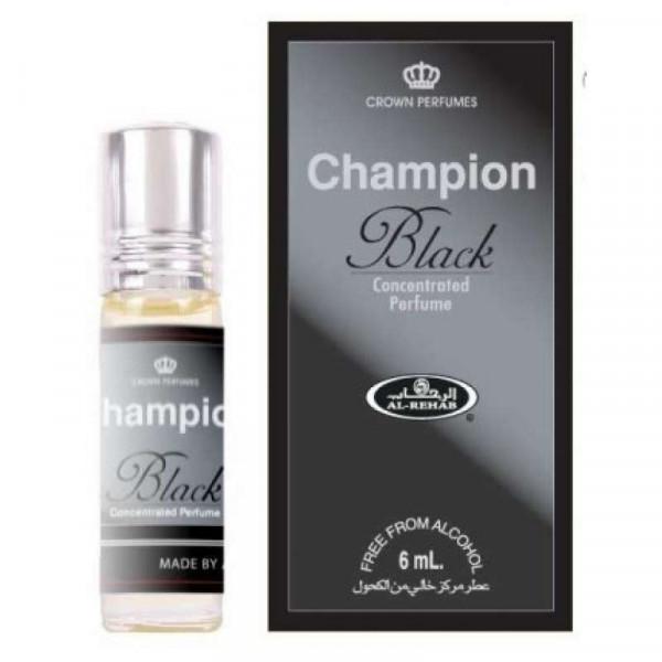Масляные духи AL REHAB CHAMPION BLACK с роллером 6 мл