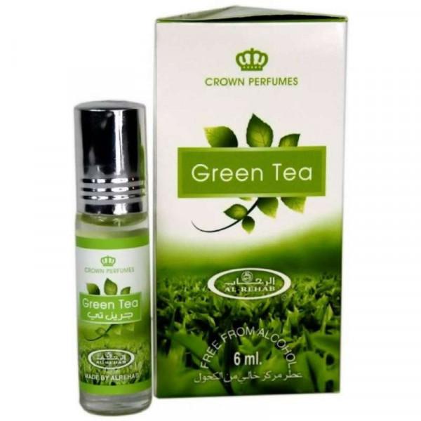 Масляные духи AL REHAB GREEN TEA с роллером 6 мл