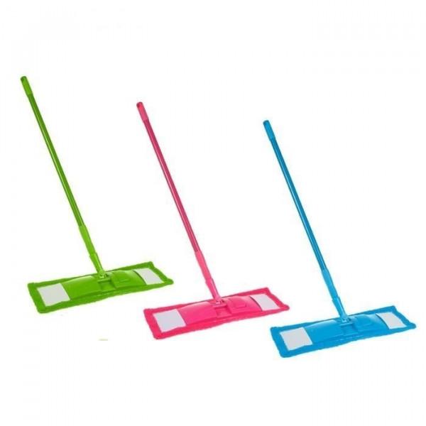 Швабра Макароны ручка Цветная телескопическая 129x40 см (стандартная)