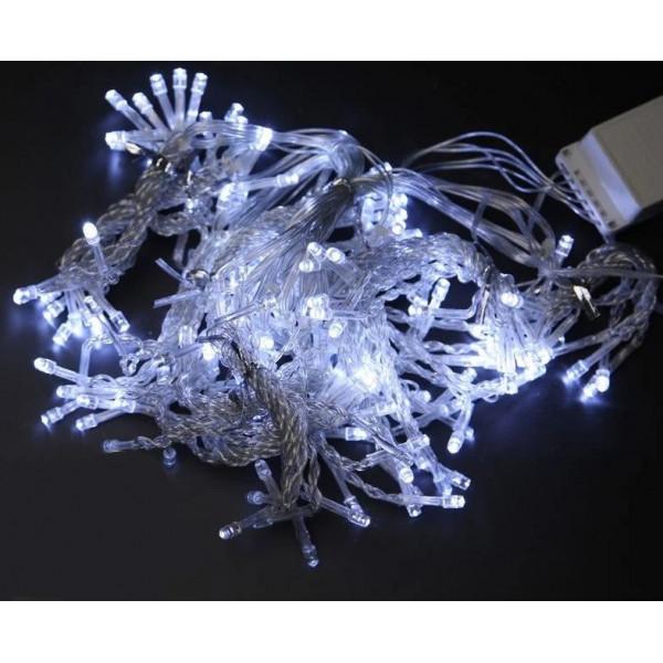 Гирлянда светодиодная однотонная белая, 100 диодов