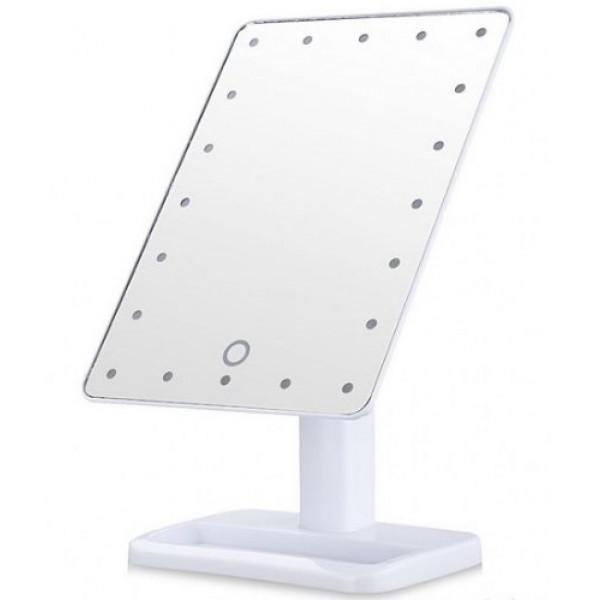 Зеркало настольное для макияжа с подсветкой Large LED Mirror