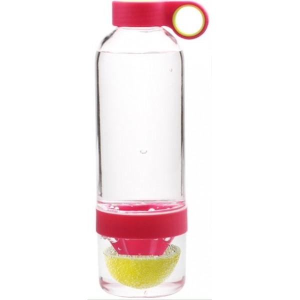 Бутылка соковыжималка Лемон Кап 0,83 л розовая