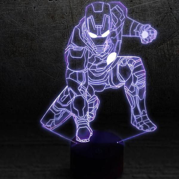Светильник 3D Железный человек