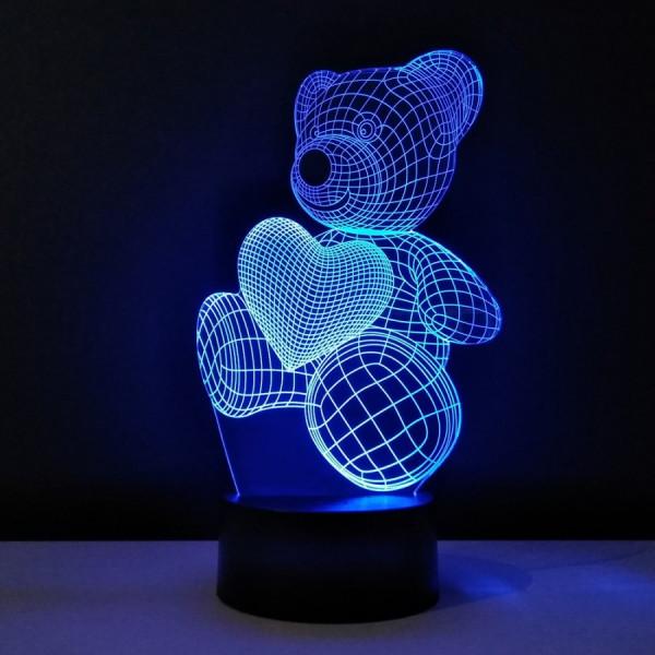 Светильник 3D Мишка
