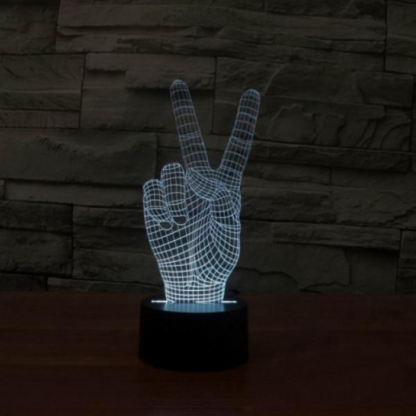 Светильник 3D Рука