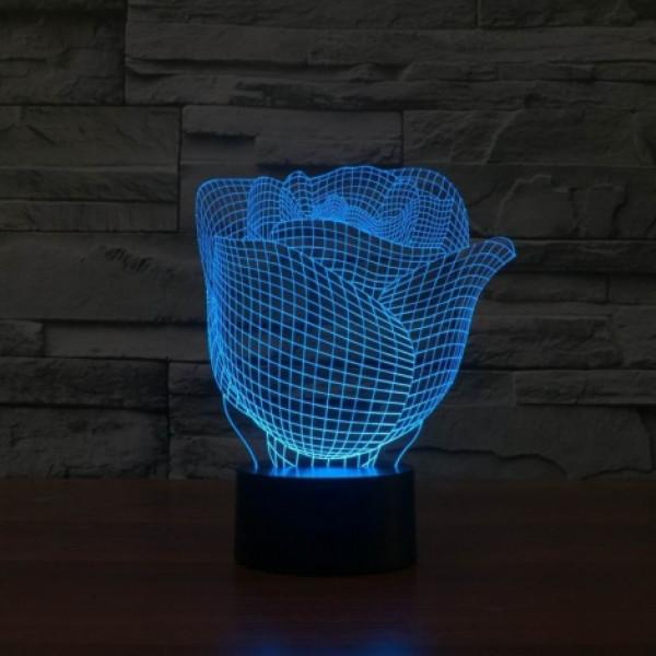 Светильники 3D Роза