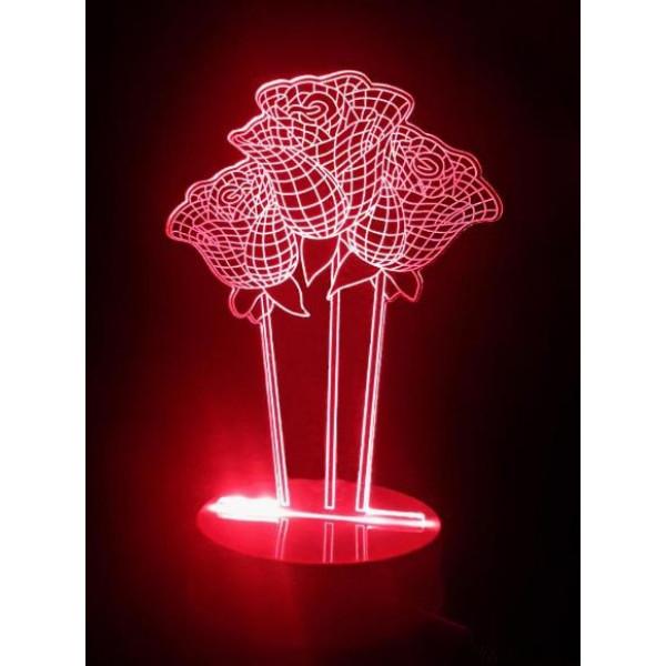 Светильники 3D Розы
