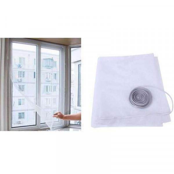 Москитная сетка на окно с крепёжной лентой на липучках