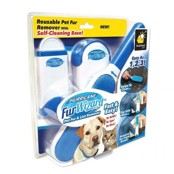 Щётка двухсторонняя для чистки шерсти собак мебели и одежды Селф Клининг Бейз 1 штука
