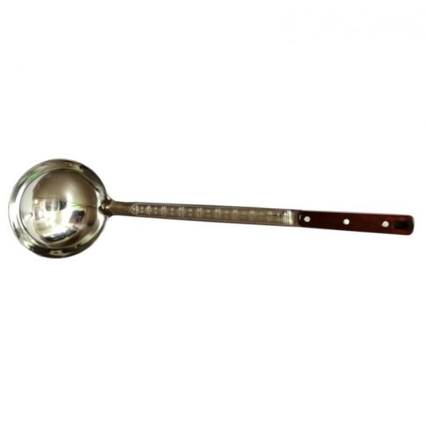 Половник металл с деревянной ручкой, 44 см