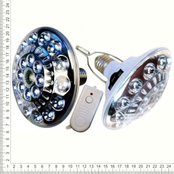 Лампа аварийная светодиодная аккумуляторная с пультом 22 диода JL-678
