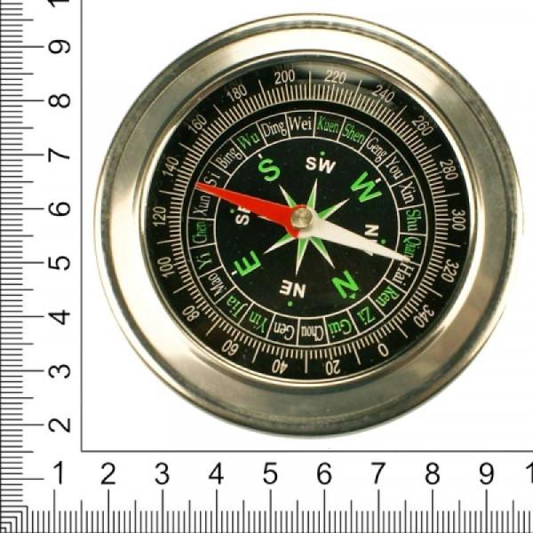 Компас металлический круглый большой, диаметр 80 мм