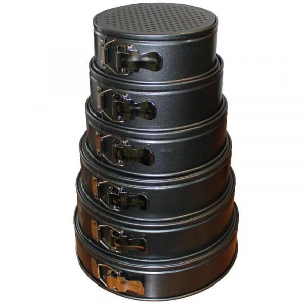 Набор из шести разъёмных форм для выпечки (18, 20, 22, 24, 26, 28 см)