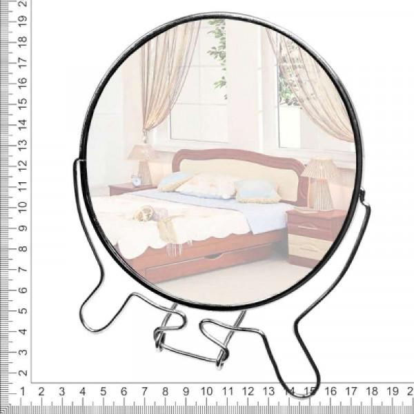Зеркало настольное металлическое увеличительное двухстороннее круглое №6