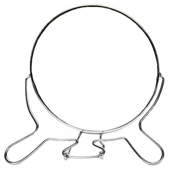 Зеркало настольное металлическое увеличительное двухстороннее круглое №7