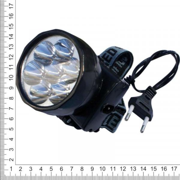 Фонарь налобный аккумуляторный 7 кристаллов XL-588-7
