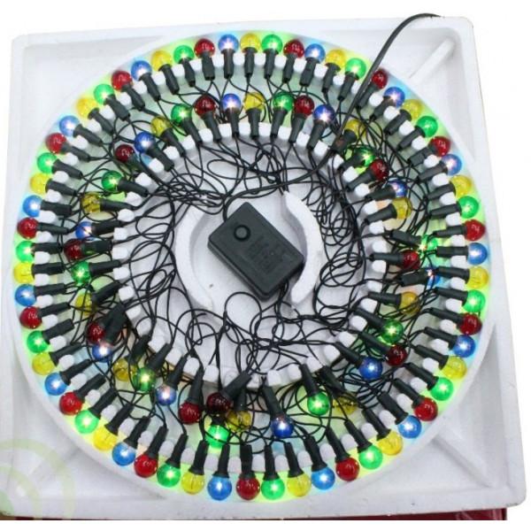 Гирлянда лампы-шарики со взаимозаменяемыми лампами 100 ламп (в пенопласте)