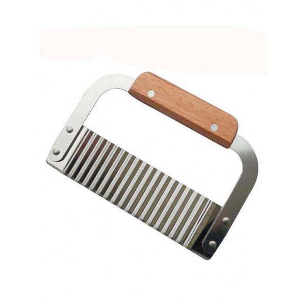 Нож для картофеля Фри, деревянная ручка 19х12 см