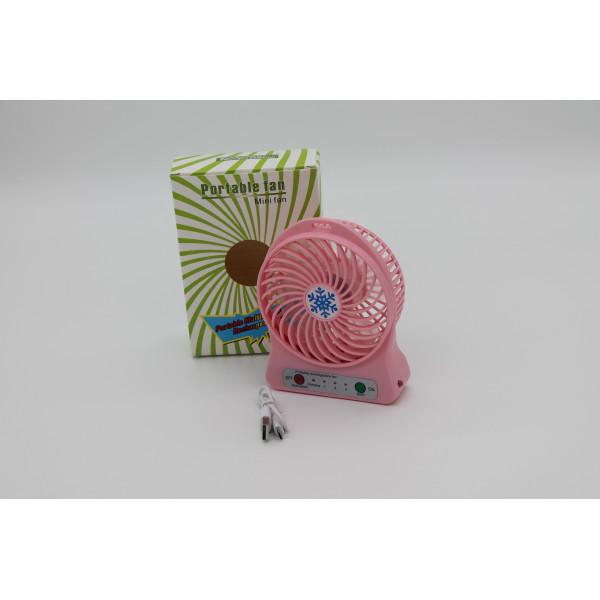 Портативный мини-вентилятор Portable Fan Mini (неполный комплект)