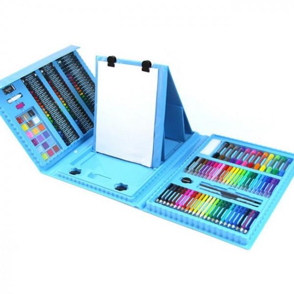 Набор для рисования 208 предметов (Голубой)