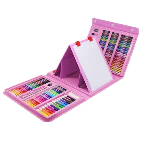 Набор для рисования 208 предметов (Розовый)