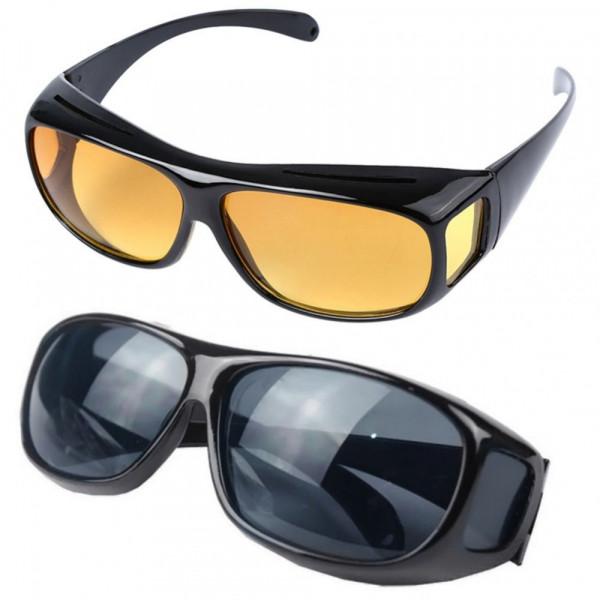 Очки для водителей HD Vision желтые и черные (2 пары) (СТО)