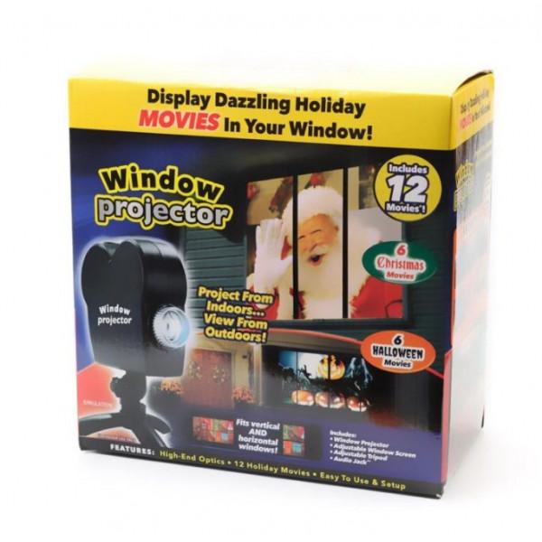 Проектор на окно Star Shower Window Projector 12 фильмов