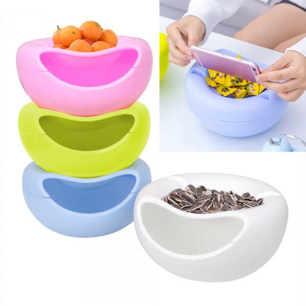 Миска для семечек, фисташек, орехов с отсеком для шелухи и подставкой для телефона