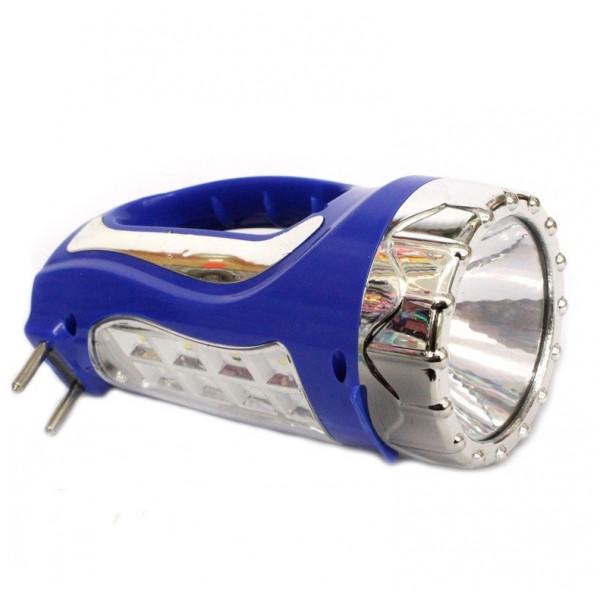 Фонарь светодиодный с ручкой, заряжается от сети, 13 см