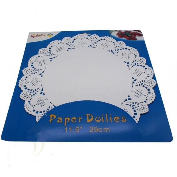 Бумажные салфетки ажурные для торта, d 34 см, 12 шт.
