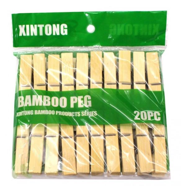"""Прищепки бамбуковые """"Бамбо"""", 20 шт."""