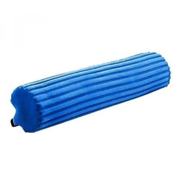Насадка ПВА(губка) для швабры с роликовым отжимом (твердая), синяя