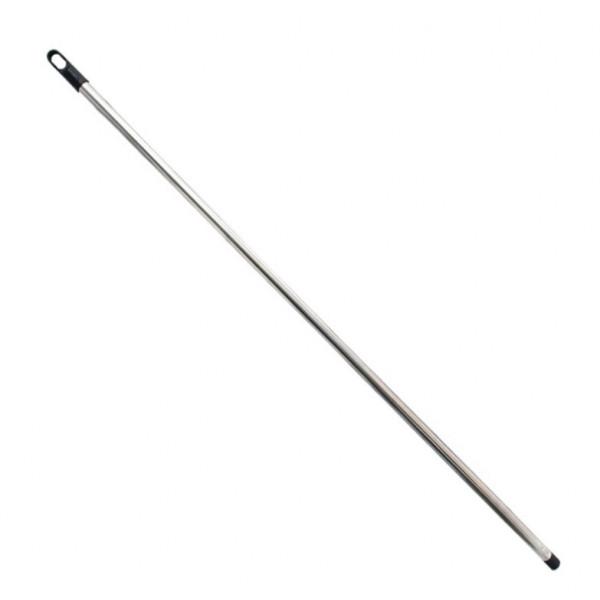 Черенок (палка) для щеток и швабр хромированный, 118 см Палка хром