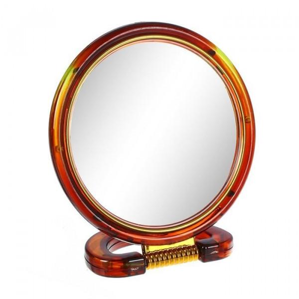 Зеркало настольное двустороннее круглое с увеличением 18 см