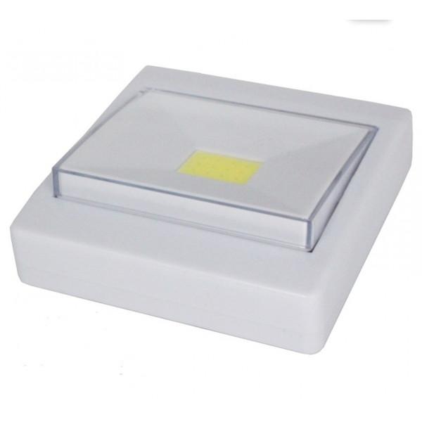 Фонарик (светильник) клавиша светодиодный на двухстороннем скотче, на батарейках